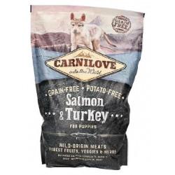 BRIT CARNILOVE Puppy łosoś/indyk 1,5kg