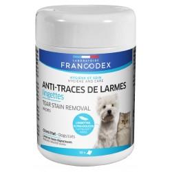 FRANCODEX Chusteczki usuwające ślady łez, dla psów i kotów 50 szt