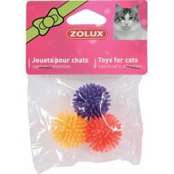 ZOLUX Zabawki dla kota 3 piłki gwiazdki 4 cm