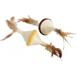 ZOLUX Zabawka dla kota sizal z piórkami