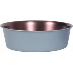 ZOLUX Miska antypoślizgowa inox COPPER 600 ml kol szary stalowymiedziany