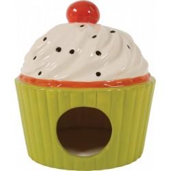 *- Domek ceramiczny Ciastko kol seledynowy