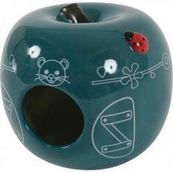 *- Domek ceramiczny Jabłko kol niebieski